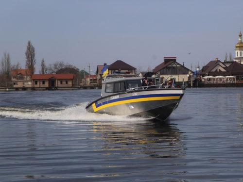 Водну поліцію Херсонщини забезпечили броньованими катерами