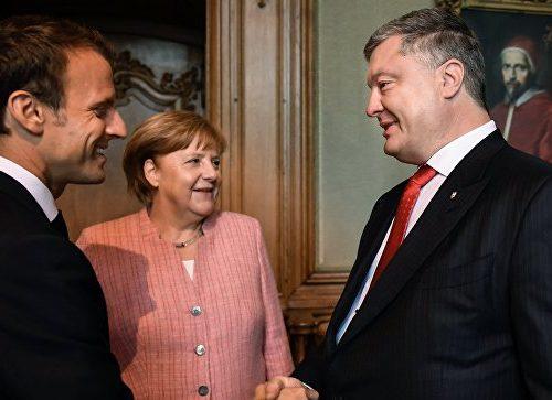 Нова зустріч: про що домовились Порошенко, Меркель і Макрон?