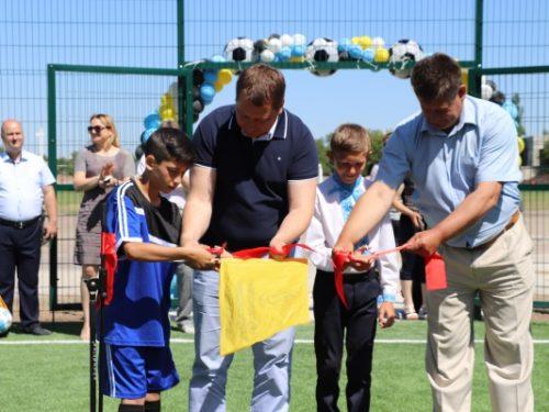 На Херсонщині відкрили два нових футбольних майданчика
