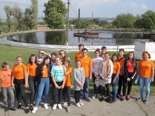 Юні екологи відвідали міські очисні споруди