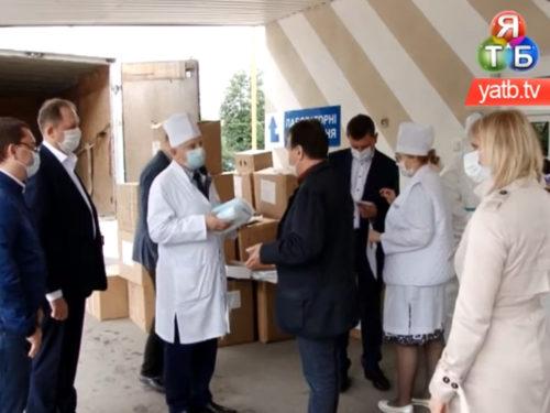 Гуманітарний вантаж для захисту від COVID-19 доставлено в лікарню імені Тропіних