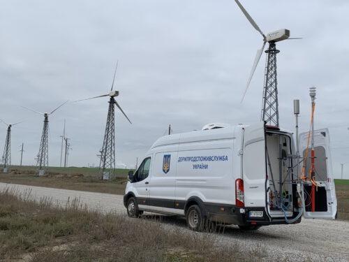 Пересувна лабораторія Держпродспоживслужби проводить моніторингові дослідження повітря навколишнього середовища в Чаплинському та Каланчацькому районах