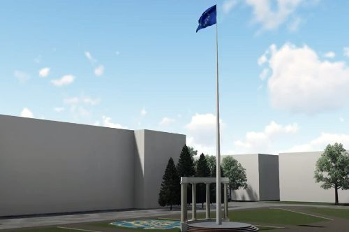 На площі Свободи планують встановити флагшток з українським прапором